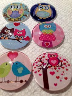Modern Owls  Fridge Magnet