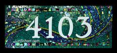 4103 Address Plaque Commission | Flickr - Photo Sharing! (Lin Schorr)