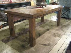 Rectangular Recycled Douglas Fir Custom Dining by MortiseandTenon, $1895.00. Nice and chunky.
