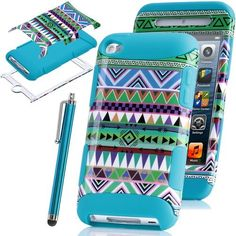 Pandamimi ULAK 3-Piece Blue Hybrid High Impact Case Tribal pattern Blue Silicone For Apple iPod Touch Generation 4 with Free Stylus by ULAK, http://www.amazon.com/dp/B00BVV5INQ/ref=cm_sw_r_pi_dp_.PyUrb0ZDSHC0