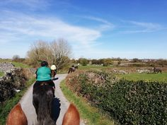 Enjoying a gorgeous trek through the local parish of Carrowbrowne, Galway. Wild Atlantic Way, Horse Ears, Horse Riding, See Through, The Locals, Countryside, Equestrian, Vacations, Ireland