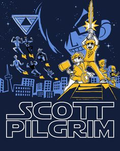 """""""Not So Long Ago"""" by Hugo Dourado Scott Pilgrim design in the style of the Star Wars poster. Scott Pilgrim Comic, Bryan Lee O Malley, Brian Lee, Arrow Tv Shows, Ramona Flowers, Vs The World, Star Wars Poster, Geek Out, Cultura Pop"""