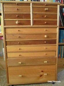 Madeira Embroidery Thread - 180 Spool Wooden Storage Chest (Empty ...