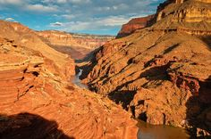 The Colorado River seen from the mouth of Deer Creek Canyon in Grand Canyon National Park, Arizona.