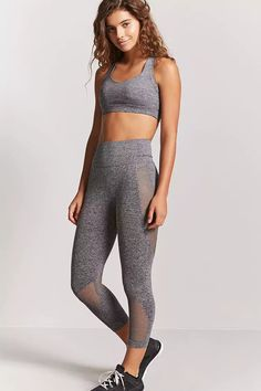 Product Name:Active Marled Capri Leggings, Category:Activewear, Price:14.9