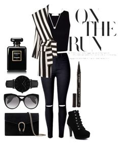 """""""Monochrome"""" by pearkilliney ❤ liked on Polyvore featuring Links of London, Balmain, Gucci, Alexander McQueen, CLUSE, Chanel, Smith & Cult and monochrome"""