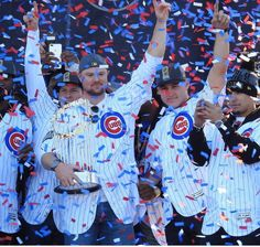 Jon Lester, Anthony Rizzo, Cubs parade
