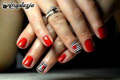 Modna stylizacja kraków anastazja.net https://www.facebook.com/Anastazja.styl Nails# RED