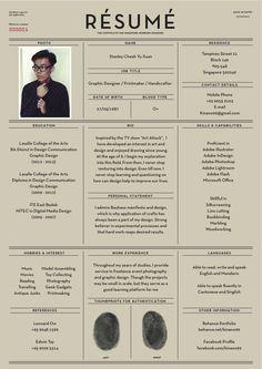 Fantastic Examples of Creative #Resume Designs #careers