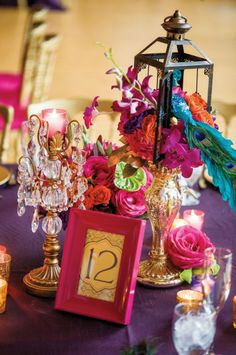 Fabulous bright Casablanca inspired Moroccan themed wedding by Tina LaMorte of Oh So Fabulous in Maywood, flowers by Ciao Bella Floral Design