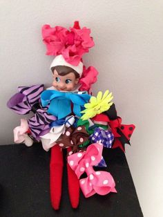 BLOG has SEVERAL POSTS, LISTS, PICTURES of her own ideas! --> Elf on the Shelf Ideas: Part 5