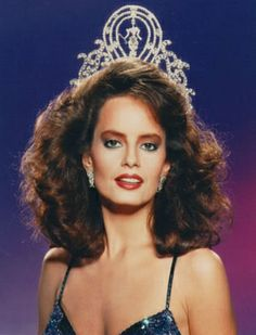1987 Miss Universe - Cecilia Carolina Bolocco Fonck of Santiago, Chile.