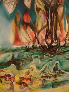 Roberto Matta, Chilean artist at the Art Institute.