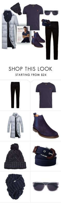 """""""Man"""" by ladyscarlet01 ❤ liked on Polyvore featuring Ted Baker, Polo Ralph Lauren, Donald J Pliner, MANGO, Lands' End, Gucci, men's fashion and menswear"""
