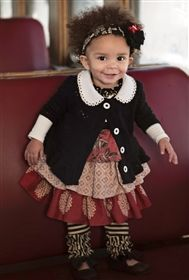 Baby By Persnickety Clothing - Holiday Paisley Dress in Multi