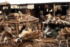 A stall at Akodessewa Fetish Market LOMÉ, TOGO