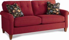 La-Z-Boy Laurel Stationary Button Tufted Sofa at Conlin's Furniture