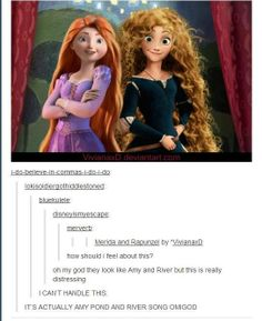 Amy Pond and River Song are Rapunzel and Merida! Gif Disney, Disney Memes, Disney And Dreamworks, Sherlock, Doctor Who, Eleventh Doctor, David Tennant, Narnia, Gossip Girl
