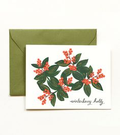 Rifle Paper Co winterberry holly