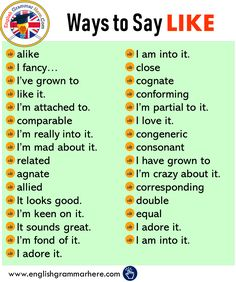 Different Ways To Say LIKE In English