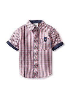 Camiseta Beb/é-para Ni/ños Tommy Hilfiger Fashion Madras Pocket S//S
