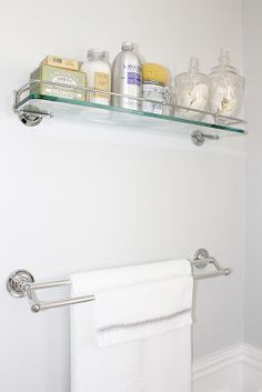 Restoration Hardware Lugarno Glass Shelf Master Bathroom Pinterest Glas