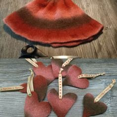 When something goes wrong... Too big to be worn as a hat, but just perfect  for Christmas hearts.