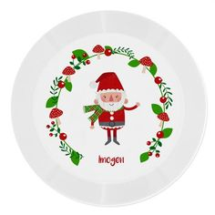 Personalised Plastic Plate - Christmas Toadstool and Santa Ruby Anniversary, Anniversary Present, Christmas Themes, Merry Christmas, Certificate Holder, Christmas Teddy Bear, Plastic Plates, Secret Santa Gifts, Special Birthday