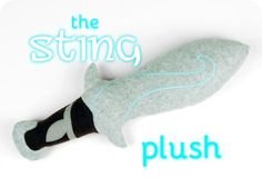 Free tutorial: Make a cuddly Sting sword plush in celebration of Hobbit Day! It even glows in the dark! #diy #sewing