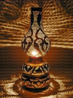 Handcrafted Egyptian Moroccan Vintage Brass Table Lamp Shades Lighting