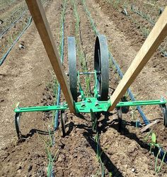 We are frequently amazed at the creativity of our customers in conjunction with the versatility of our #wheelhoe and its attachments. Here's a sweet, three-row onion weeding configuration that one of our Instagram friends is using. #growyourownfood
