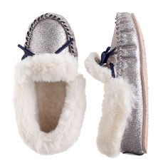 e6ef1954180e Girls' glitter lodge moccasins | Crew Cuts Kids Slippers, Ugg Slippers, Ugg  Shoes