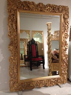Large Ornate Gilt Mahogany Mirror by STDesignsLA on Etsy, $6860.00