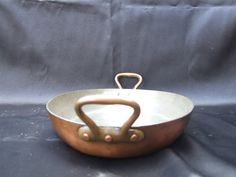 Oval Copper Gratins pan//Copper Flambe  by VintageRetroOddities