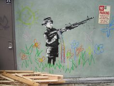 Banksy, Crayon Shooter, Los Angeles - unurth | street art