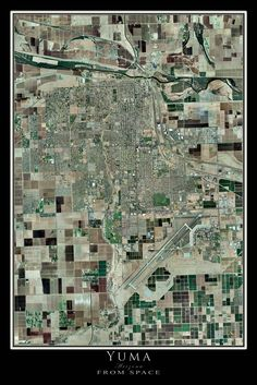Yuma Arizona Satellite Poster Map
