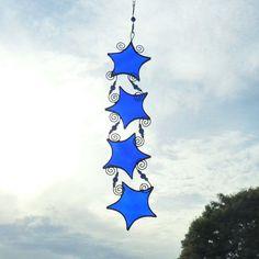 Sapphire Blue Stained Glass Suncatcher by RavensStainedGlass, £24.00