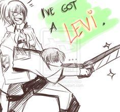Hanji's Got A Levi by HavFos on deviantART