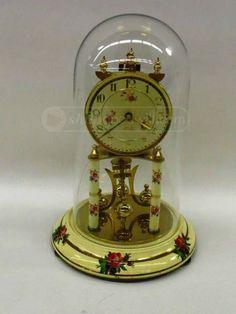 shopgoodwill.com: Kundo RoseTransferware Glass Globe Clock 3.7 Lb