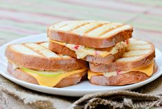 Gojee - Pimento Granny Smith Grilled Cheese by A Spicy Perspective