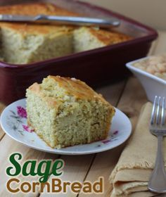 Classic southern sage cornbread recipe!  Great for the holidays, this recipe is definitely a keeper!!