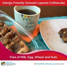Allergy-Friendly Streusel Layered Coffeecake
