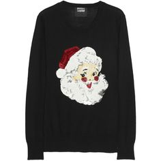 Markus Lupfer Santa Claus sequined merino wool sweater ($400) ❤ liked on Polyvore