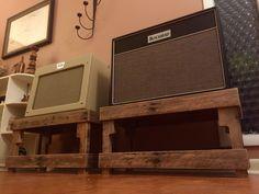 Guitar amp stands made from reclaimed pallets, original design