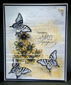 Stamps: Papillon Potpourri, Petite Petals, Love & Sympathy, Gorgeous Grunge, Musical Score background Paper: Whisper White, Basic Gray Paper...