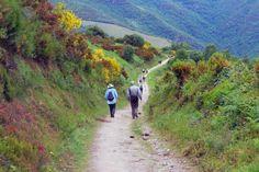 Hike El Camino de Santiago pilgrimage trail - Spain.