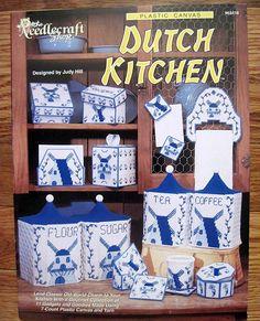 Dutch Kitchen -Plastic Canvas Pattern- The Needlecraft Shop 963416. $6.00, via Etsy.