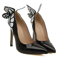 Gorgeous High Heel Women's Pumps With Butterfly and Point Toe Design