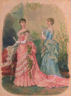 tradicionalart:  La Mode Illustrée,1883