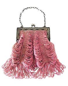 1920s Beaded bag - https://www.1stdibs.com/fashion/accessories/handbags-purses/1920s-rose-glass-beaded-metal-frame-handbag/id-v_367952/